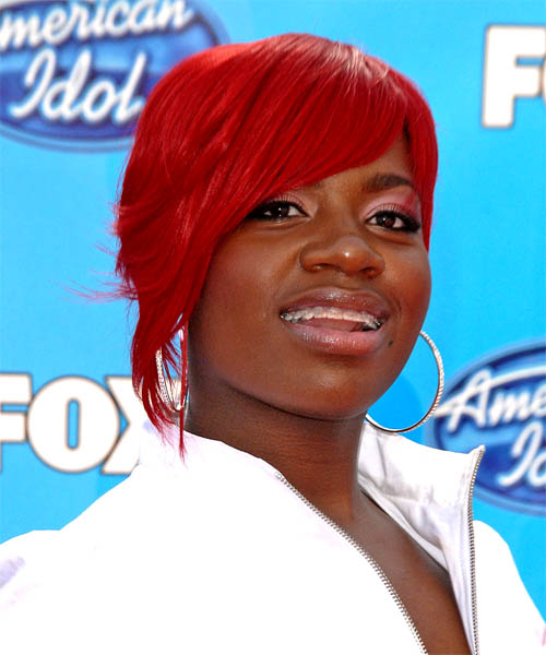 Fantasia Short Straight Red hairstyle - Dark Skin Tone
