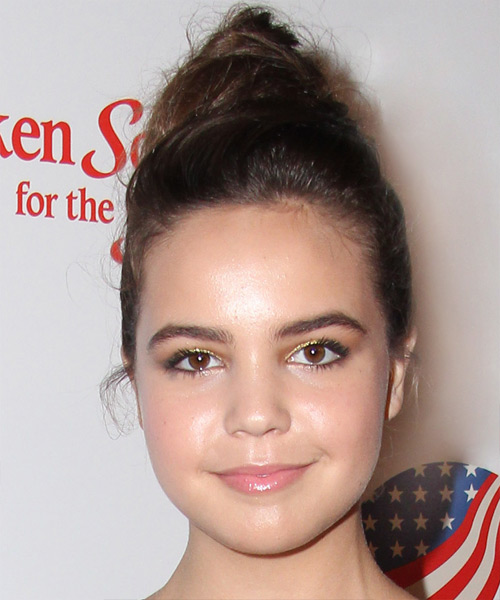 Bailee Madison Long Straight Casual Updo Hairstyle - Medium Brunette Hair Color