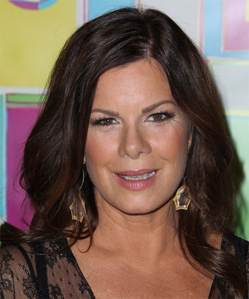 Marcia Gay Harden Medium Wavy Casual Hairstyle - Dark Brunette (Mocha) Hair Color