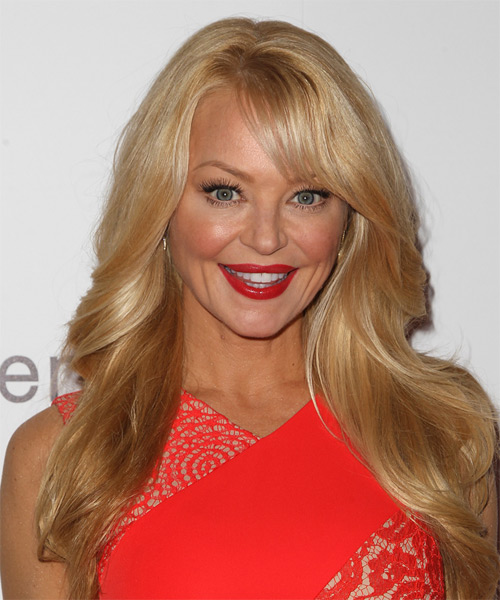 Charlotte Ross Long Straight Formal Hairstyle - Medium Blonde (Honey) Hair Color