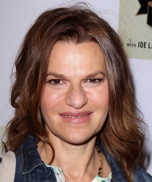 Sandra Bernhard Medium Wavy Casual Hairstyle - Medium Brunette (Chocolate) Hair Color
