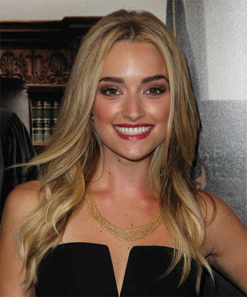 Brianne Howey Long Straight Formal Hairstyle Dark Blonde