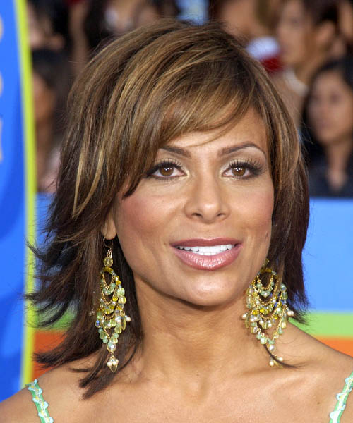 Paula Abdul Medium Straight Formal Hairstyle