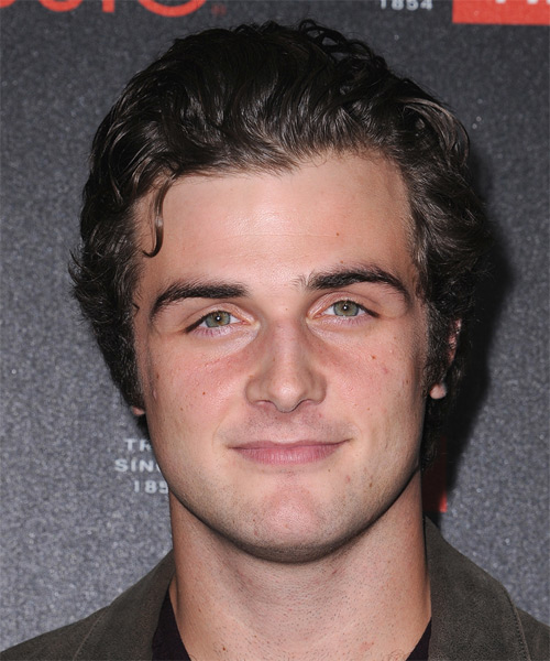 Beau Mirchoff Short Wavy Casual Hairstyle - Medium Brunette (Ash) Hair Color