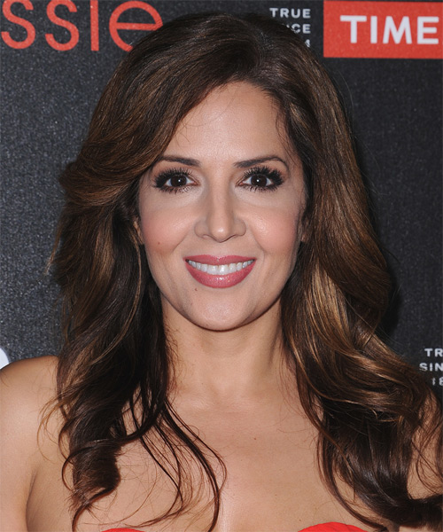 Maria Canals Barrera Long Wavy Casual  - Dark Brunette