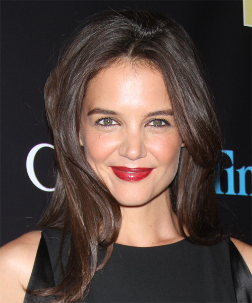 Katie Holmes Long Straight Casual  (Chocolate)
