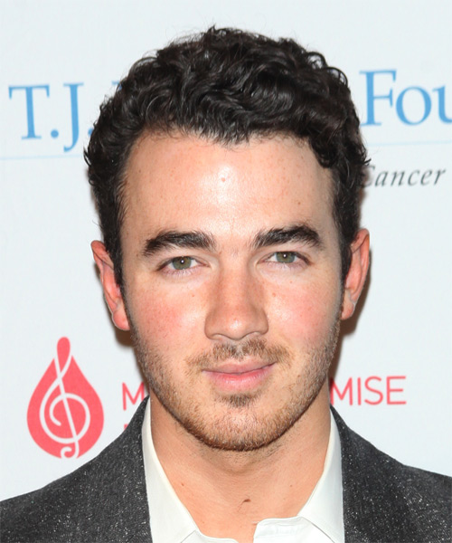 Kevin Jonas Short Wavy Formal Hairstyle - Dark Brunette