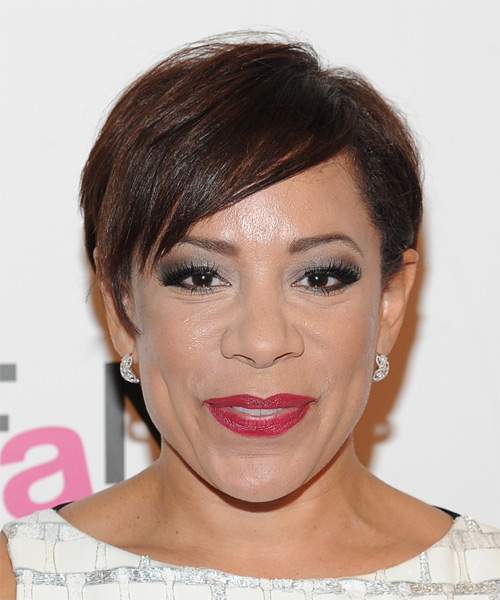 Selenis Leyva Short Straight Casual Hairstyle - Medium Brunette (Chocolate) Hair Color
