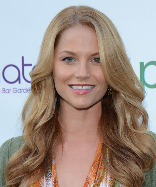 Ellen Hollman Long Wavy Formal Hairstyle Light Honey