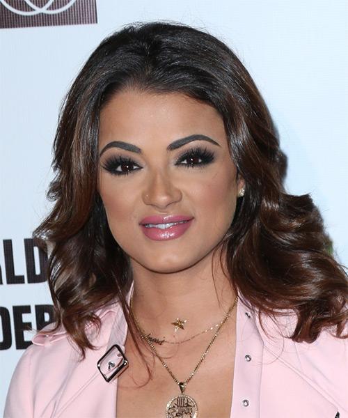 Golnesa Gharachedaghi Long Wavy Formal Hairstyle - Dark Brunette Hair Color