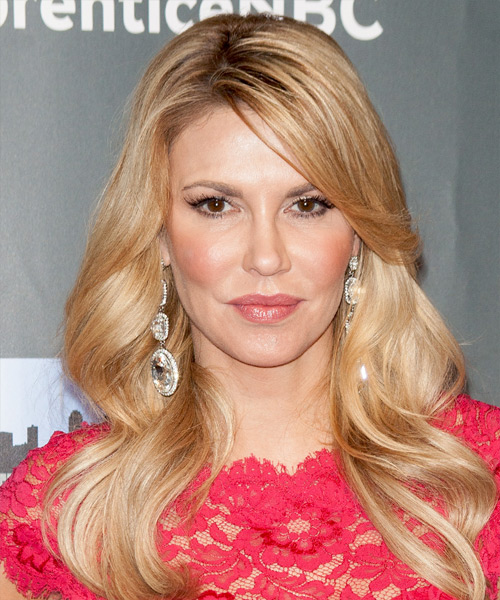Brandi Glanville Long Wavy Formal Hairstyle - Medium Blonde (Honey) Hair Color