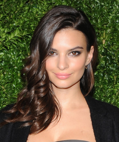 Emily Ratajkowski Long Wavy Formal