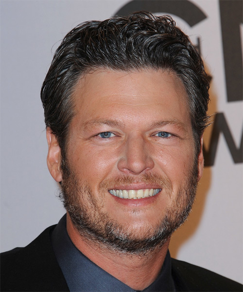 Blake Shelton Short Wavy Formal