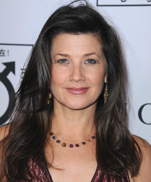 Daphne Zuniga Long Straight Casual  - Black