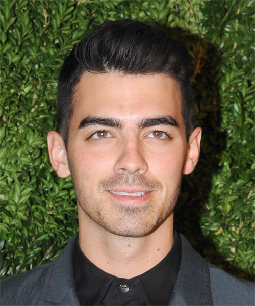Joe Jonas Short Straight Formal Hairstyle - Black Hair Color