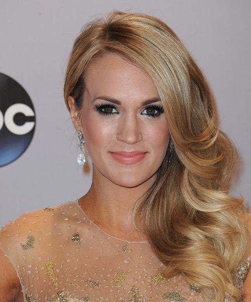 Carrie Underwood Long Wavy Formal  - Dark Blonde