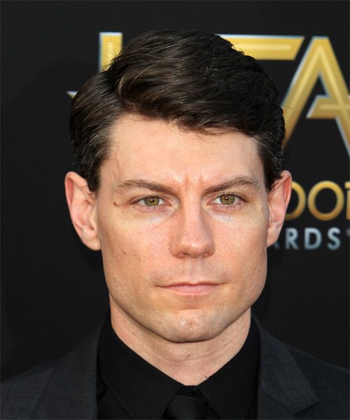 Patrick Fugit Short Straight Formal Hairstyle - Dark Brunette Hair Color