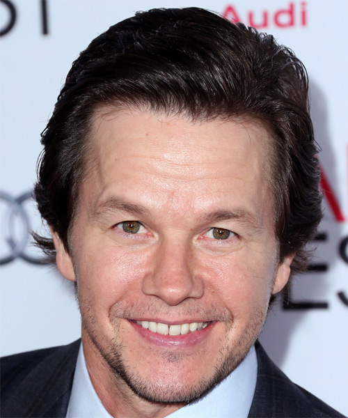 Mark Wahlberg Short Straight Formal Hairstyle - Medium Brunette (Mocha) Hair Color