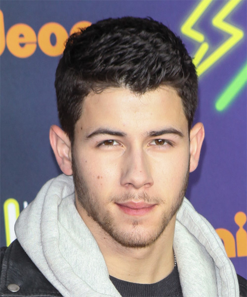 Nick Jonas Short Straight Casual  - Dark Brunette