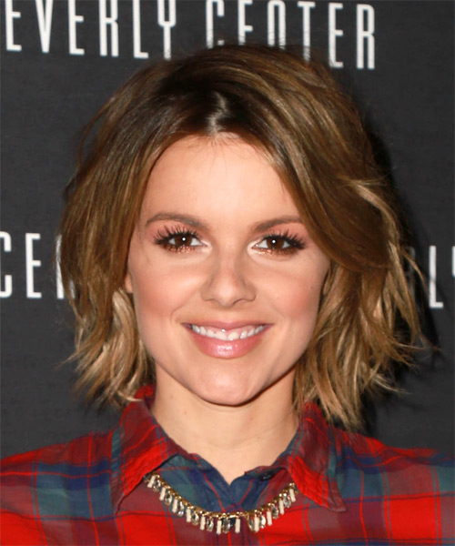 Ali Fedotowsky Medium Straight Casual Hairstyle - Medium Brunette Hair Color