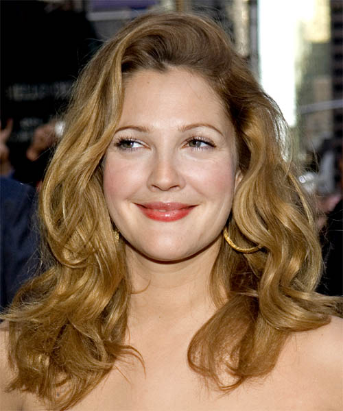 Drew Barrymore Long Wavy Hairstyle
