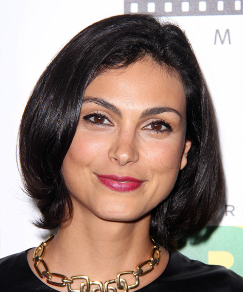 Morena Baccarin Medium Straight Casual Hairstyle - Black Hair Color