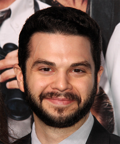 Samm Levine Short Straight Formal Hairstyle - Dark Brunette Hair Color