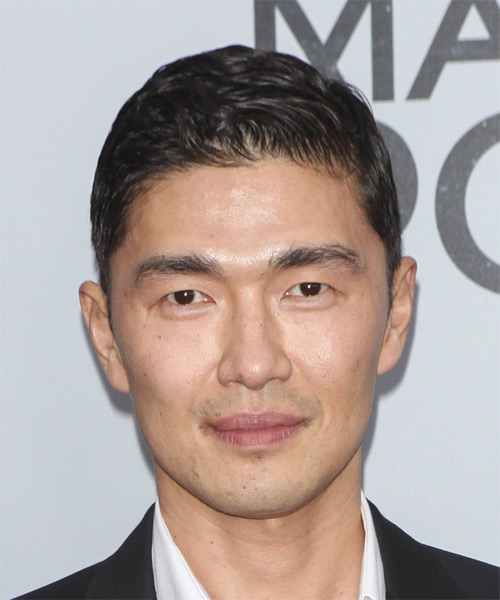 Rick Yune Short Straight Formal  - Black