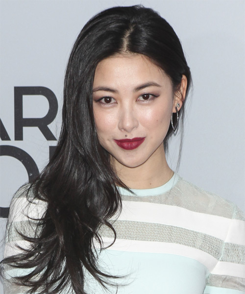 Zhu Zhu Long Straight Casual Hairstyle - Black Hair Color