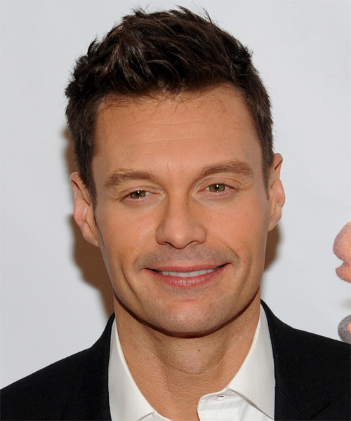 Ryan Seacrest Short Straight Casual Hairstyle (Mocha)