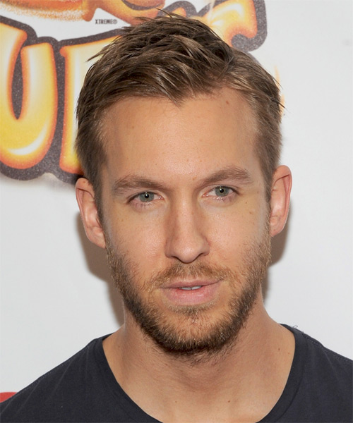 Calvin Harris Short Straight Casual Hairstyle Dark Blonde