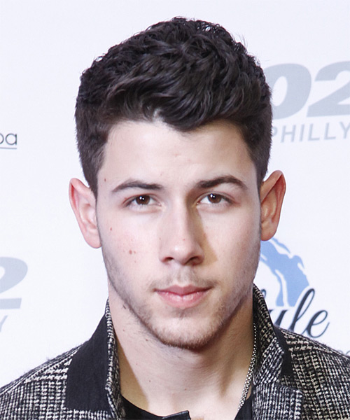 Nick Jonas Short Wavy Formal  - Dark Brunette (Plum)