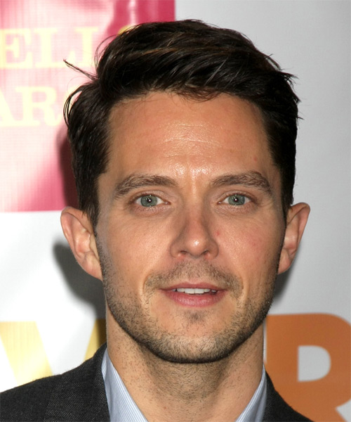 Eli Lieb Short Straight Formal Hairstyle - Dark Brunette Hair Color