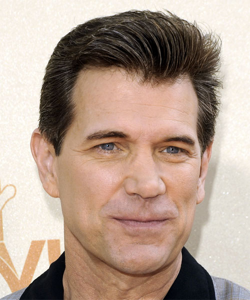Chris Isaak Short Straight Hairstyle - Dark Brunette