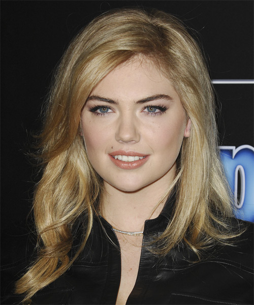 Kate Upton Long Straight Hairstyle.
