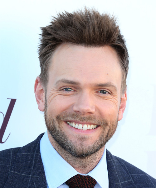 Joel McHale Short Straight Casual  - Medium Brunette