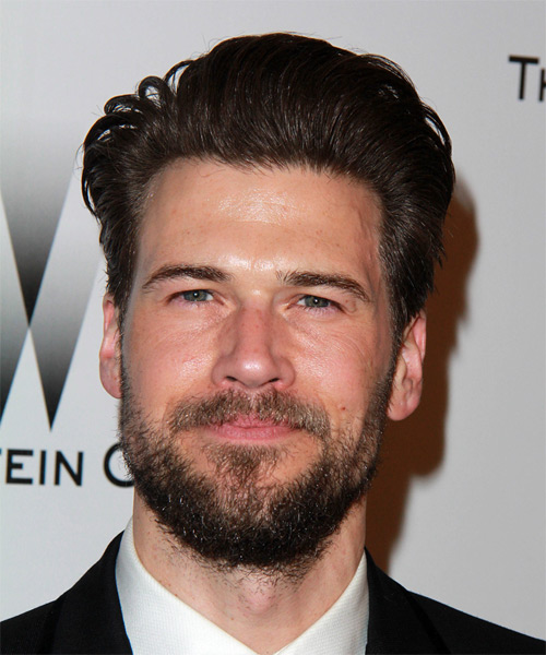 Nick Zano Short Straight Formal Hairstyle - Dark Brunette Hair Color