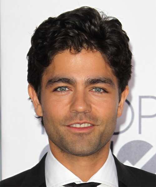 Adrian Grenier Short Wavy Casual  - Black