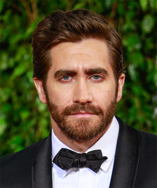 Jake Gyllenhaal Short Straight Formal Hairstyle (Chocolate)