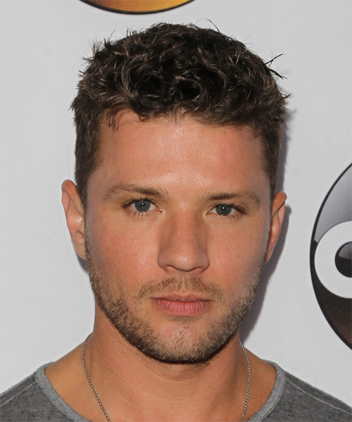 Ryan Phillippe Short Curly Casual  - Medium Brunette (Ash)