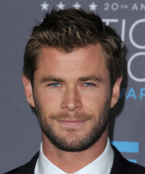 Chris Hemsworth Straight Casual  - Dark Brunette