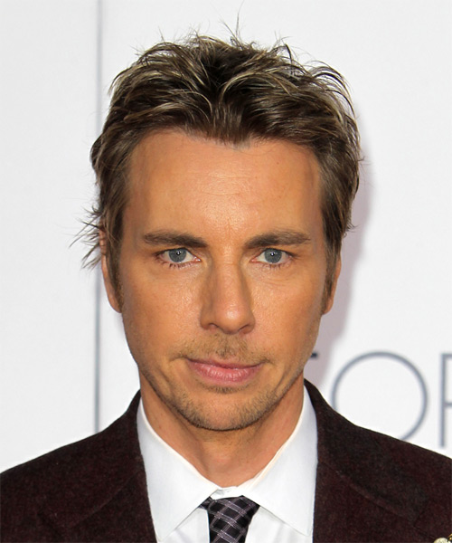 Dax Shepard Short Straight Casual  - Medium Brunette