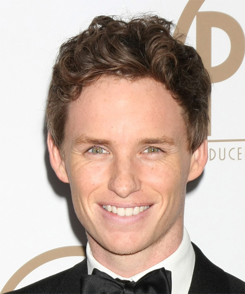 Eddie Redmayne Short Wavy Casual Hairstyle