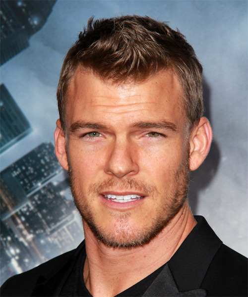 Alan Ritchson Short Straight Casual Hairstyle - Medium Brunette Hair Color