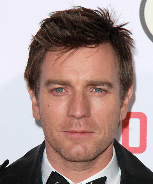 Ewan McGregor Short Straight Casual Hairstyle - Dark Brunette Hair Color