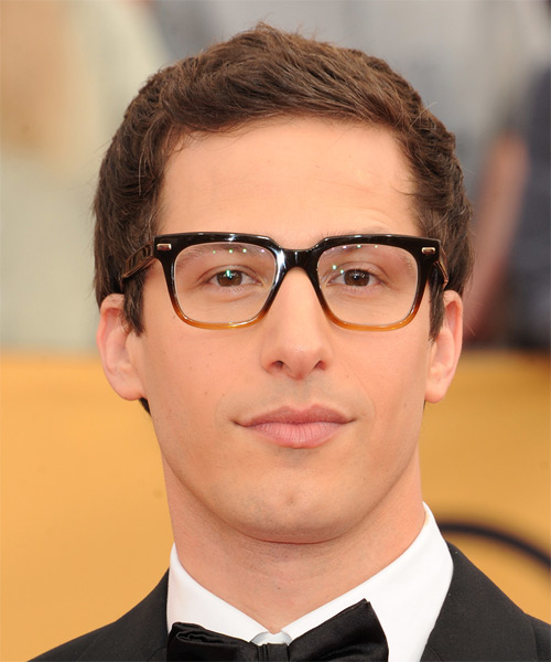 Andy Samberg Short Straight Casual  - Medium Brunette