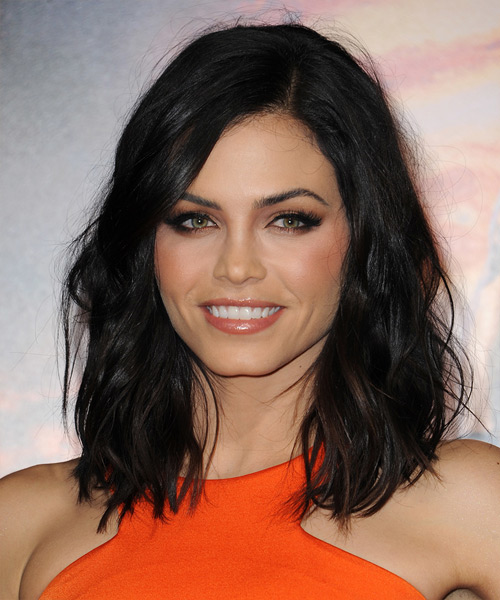 Jenna Dewan Medium Wavy Hairstyle - Black