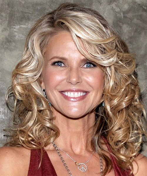 Christie Brinkley Medium Wavy Casual Hairstyle