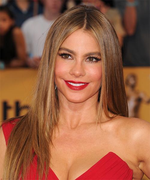 Magnificent Sofia Vergara Long Straight Formal Hairstyle Medium Brunette Hairstyles For Women Draintrainus