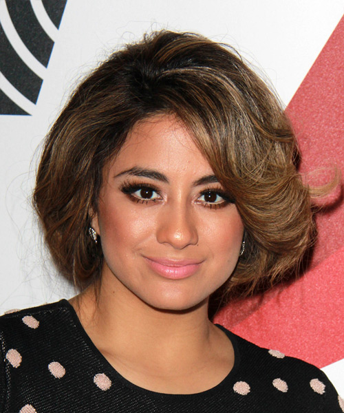 Ally Brooke Medium Straight Casual Hairstyle - Medium Brunette Hair Color